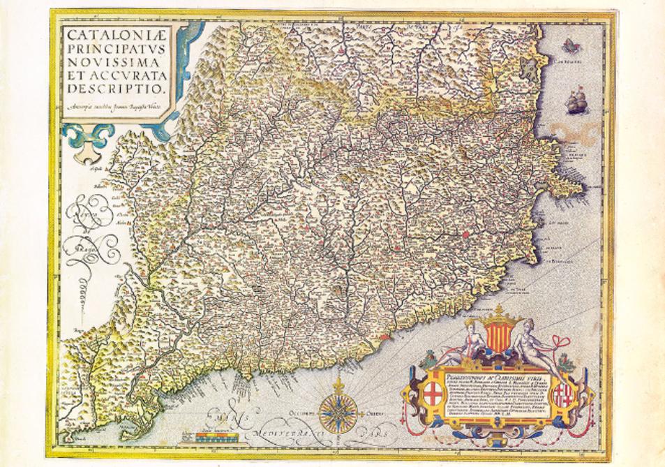 El mapa 'Cataloniae Principatus novissima et accurata descriptio'