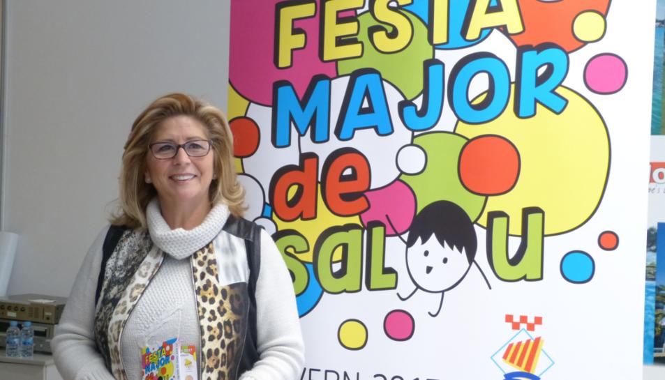 La regidora de cultura, Mª José Rodriguez en la presentació de la festa.