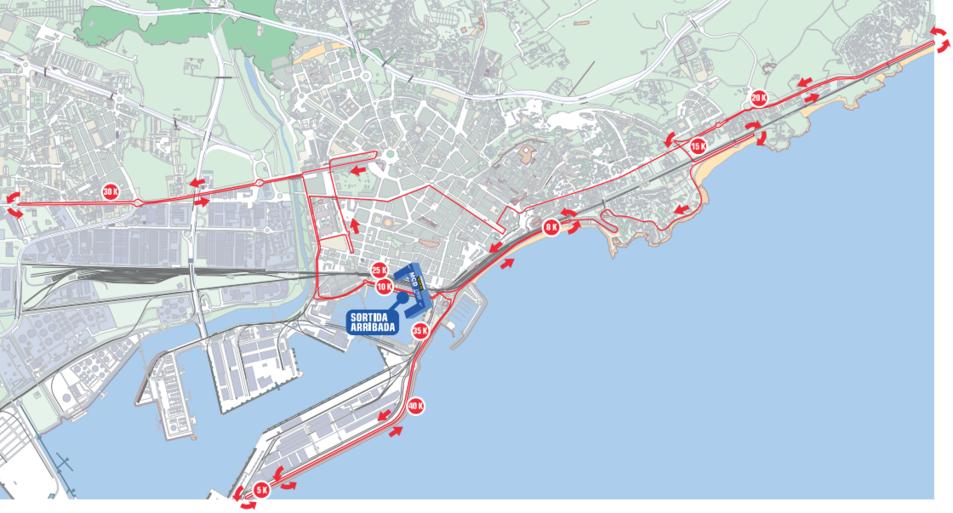 El recorregut de la marató obligarà a tallar un gran número de carrers.