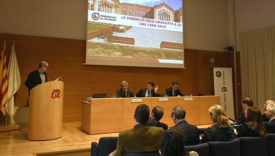 Ferran Mañé, durant la seva intervenció a la Jornada Universitat i Món Laboral.