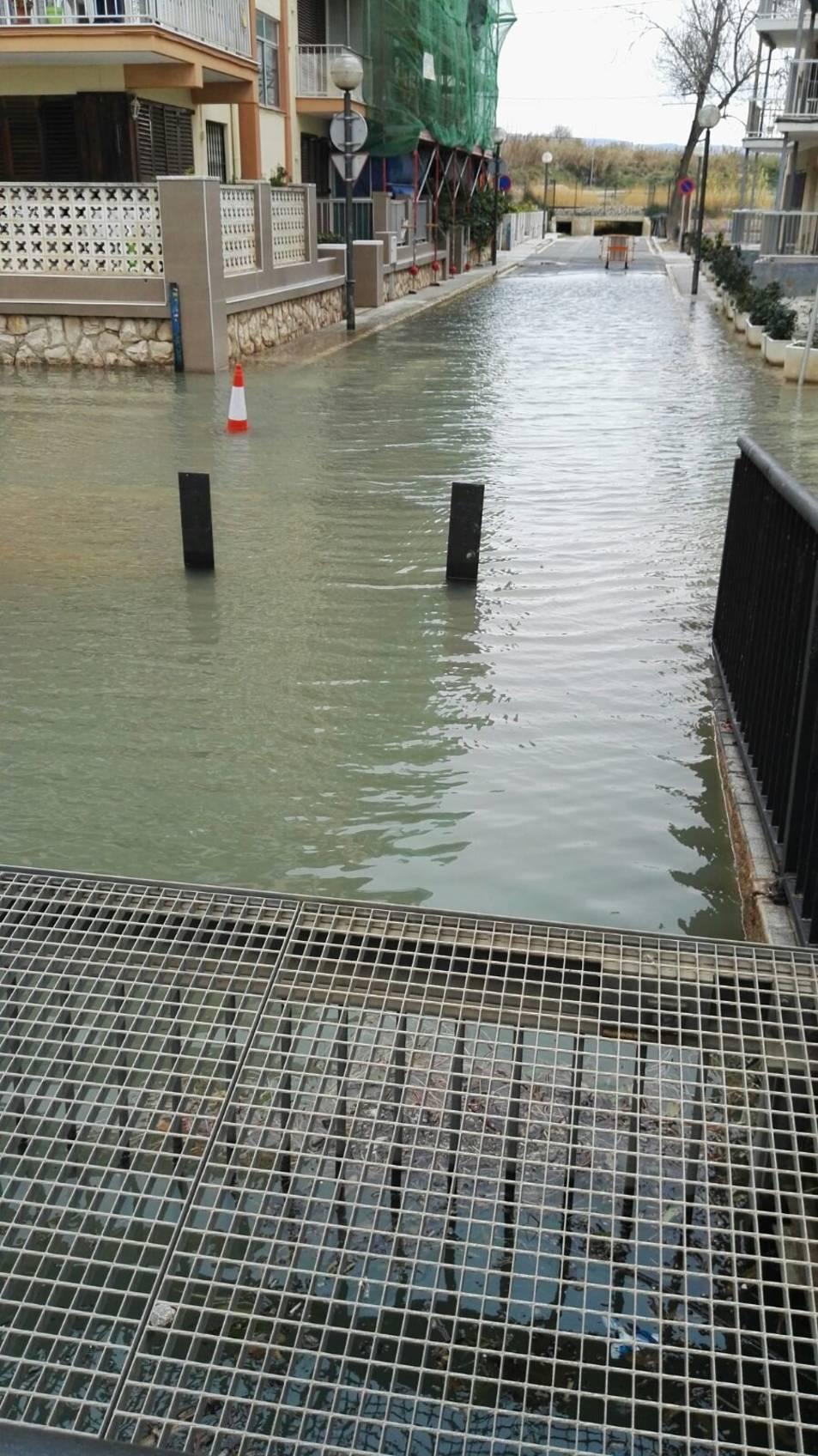 Inundación del barrio de la Salud