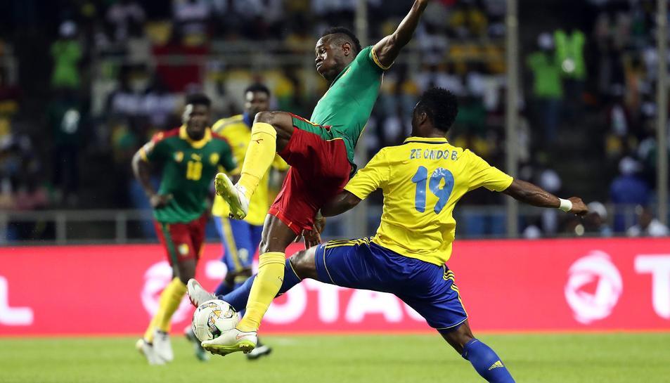 Un moment del Gabón-Camerún.