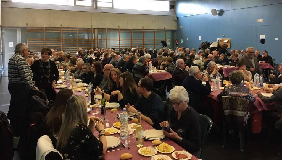 Imatge del dinar de la gent gran d'aquest passat diumenge.
