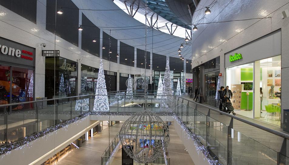 La segona planta del Centre Comercial La Fira on s'hi ubicaran els nous cinemes.