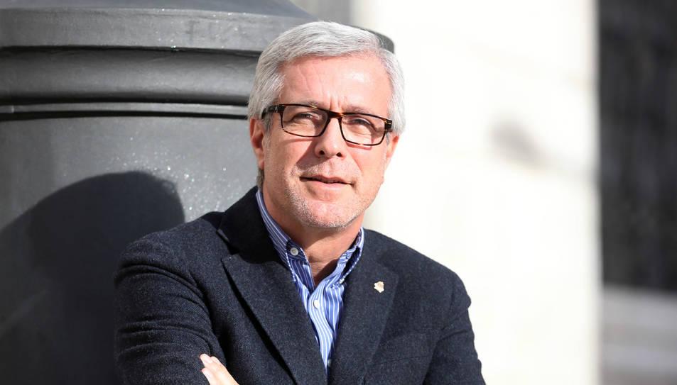 L'alcalde de la ciutat, Josep Fèlix Ballesteros, durant l'entrevista a 'Diari Més', ahir.