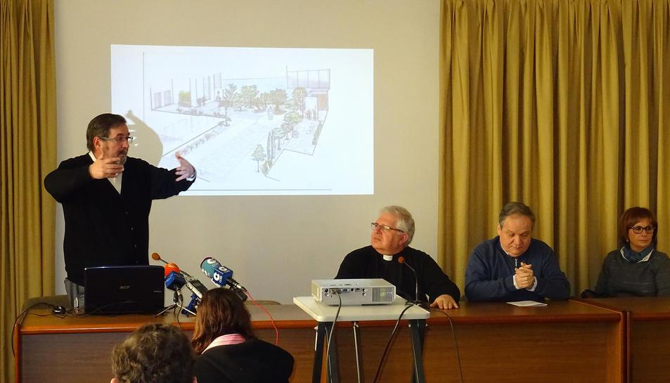 Imatge de la presentació del projecte del jardí bíblic.