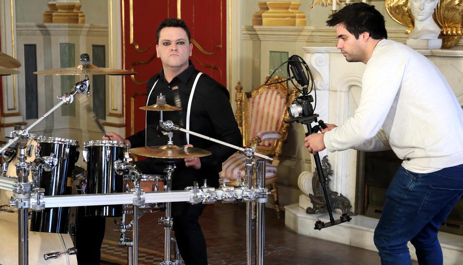 Grabació del videoclip del grupoConduct Of Flies