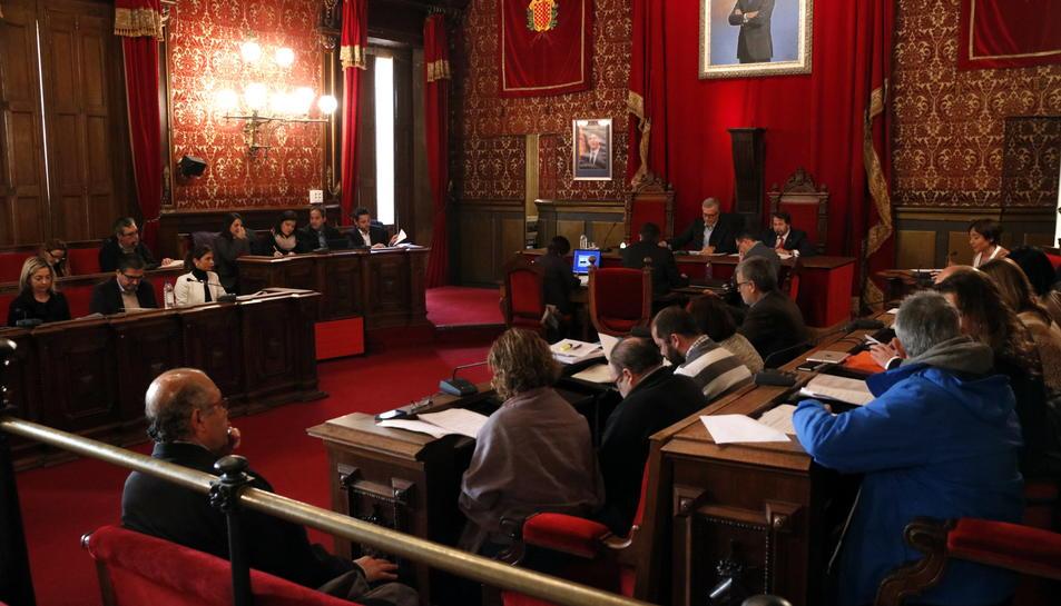 Pla general del ple de l'Ajuntament de Tarragona del 26 de gener del 2017
