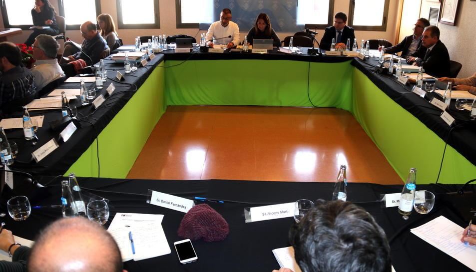 La primera reunió al saló de plens de Flix de la Comissió de Seguiment d'experts de la contaminació al municipi.