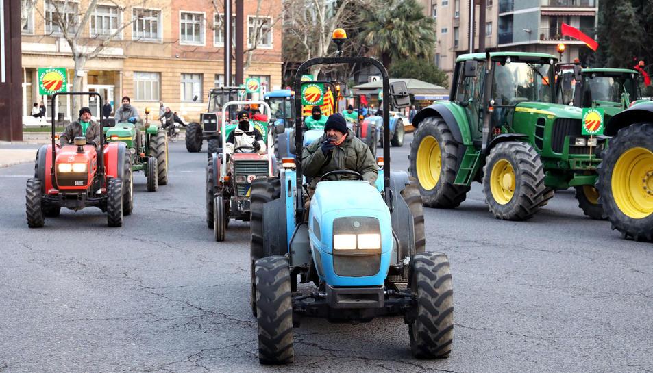 Marxa pagesa al seu pas per Tarragona.