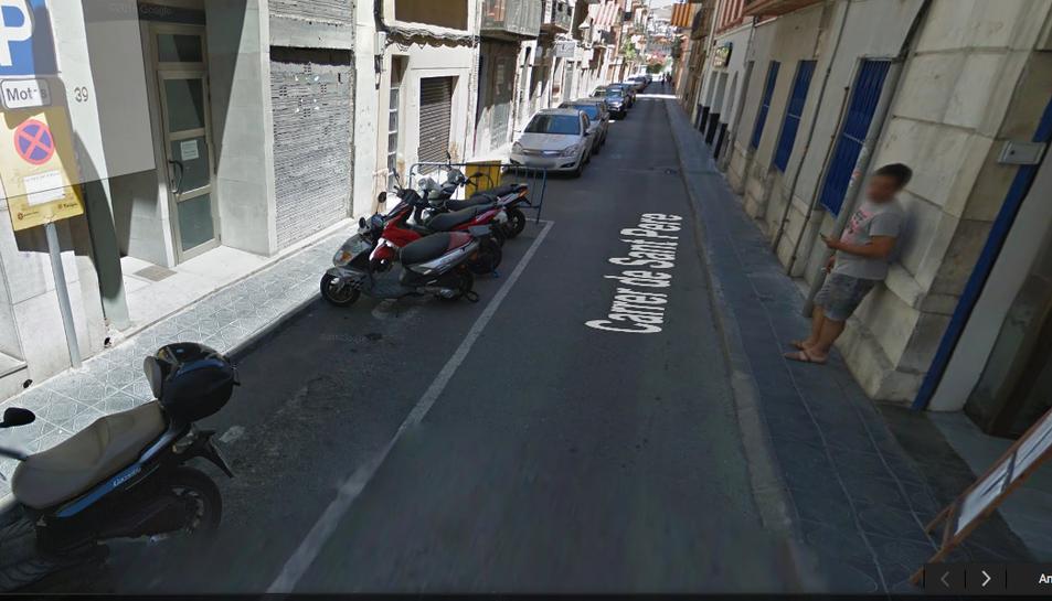El carrer Sant Pere.