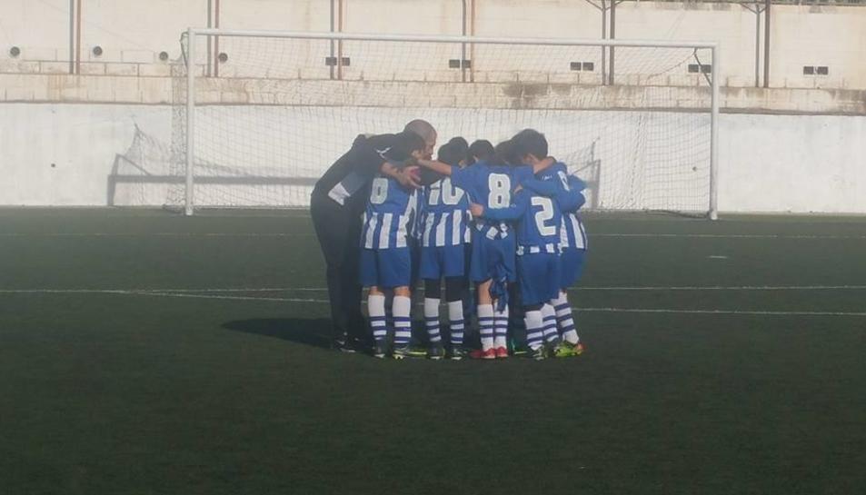 Un partit de benjamins disputat aquest cap de setmana a Torredembarra.