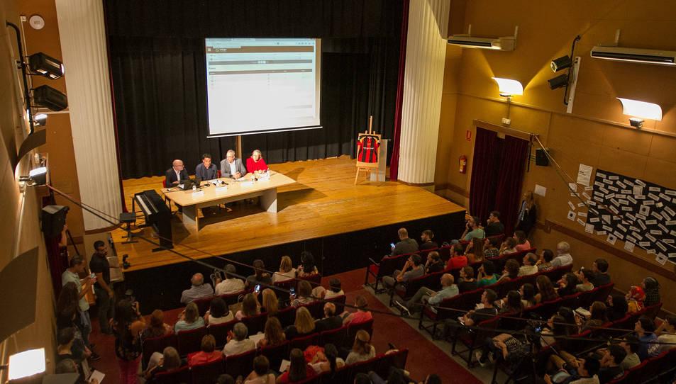 Una imatge d'arxiu de la inauguració del curs 2016-2017 a l'Institut Baix Camp.