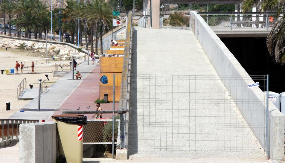 Al juliol del 2013, l'Ajuntament va decidir tancar la plataforma. Imatge d'arxiu.