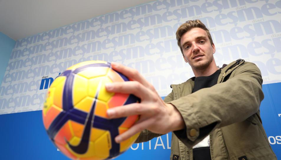 El jugador valora molt positivament les primeres sensacions amb el club tarragoní, després d'haver arribat fa poques setmanes.