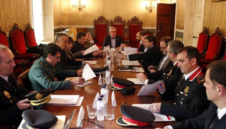 Un moment de la reunió de la Junta Local de Seguretat de Tarragona.