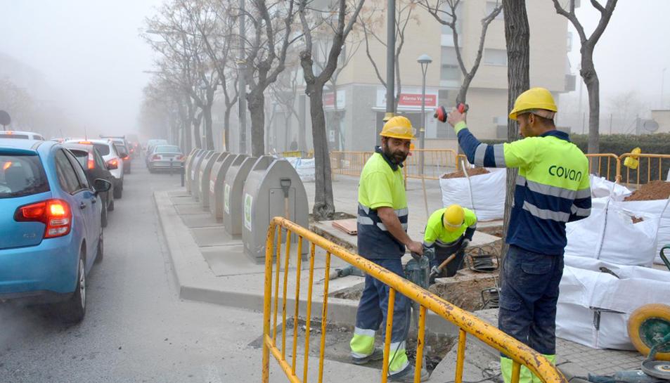 Obres que es realitzen a l'avinguda dels Paisos Catalans