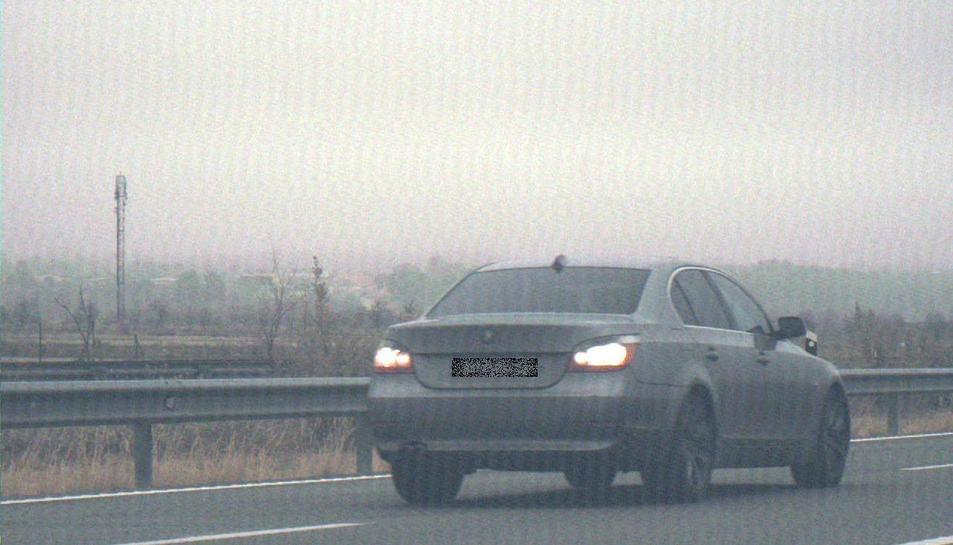 Imatge del conductor de Pamplona que va ser 'caçat' a 215km/h al Pla de Santa Maria.