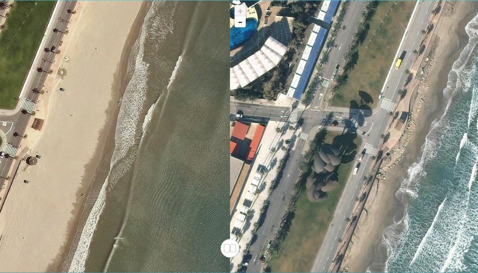 A la Pineda, els metres de sorra van desaparèixer el dia 24.