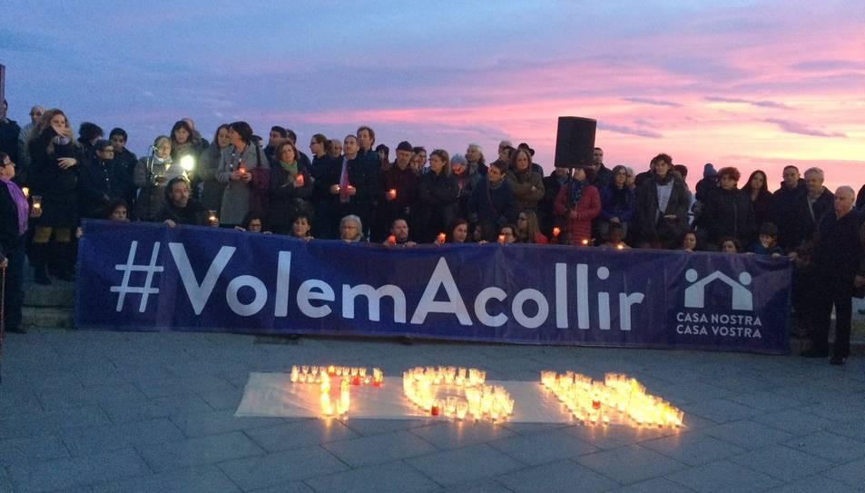 El Balcó del Mediterrani s'ha omplert de solidaritat amb els refugiats.