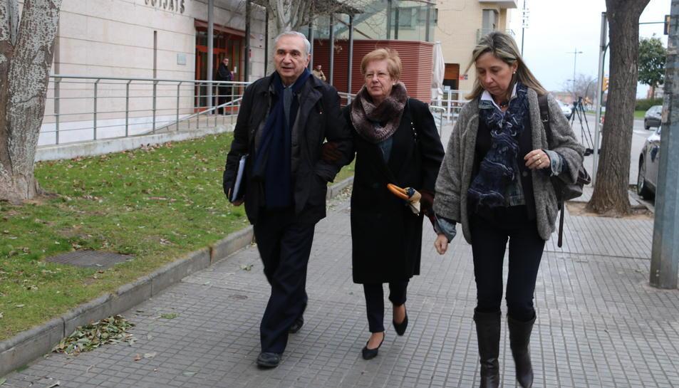 L'exdirector general de la Cooperativa de Cambrils, Josep Maria Siuró, sortint dels jutjats de Reus