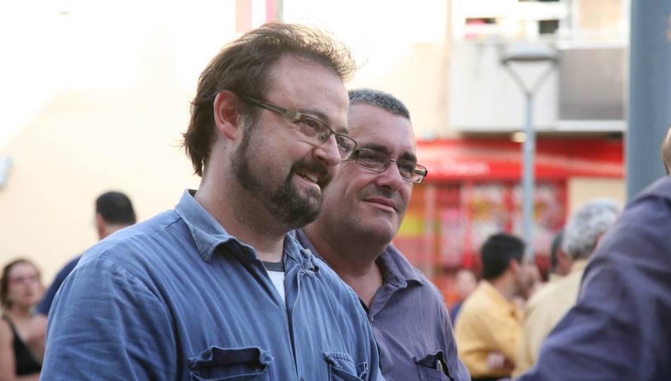 Xavier Bailach, cap de colla i Lluís Montfort, president.