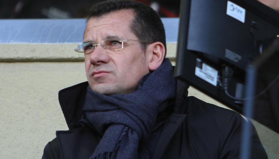 Parés, a la llotja de l'Estadi, abans de la disputa del CF Reus-Getafe (1-1), aquest passat diumenge.
