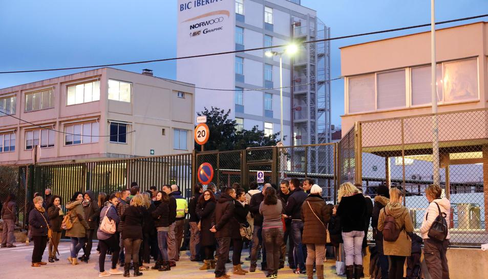 Imatge de dimarts a la tarda, a l'entrada de l'empresa.