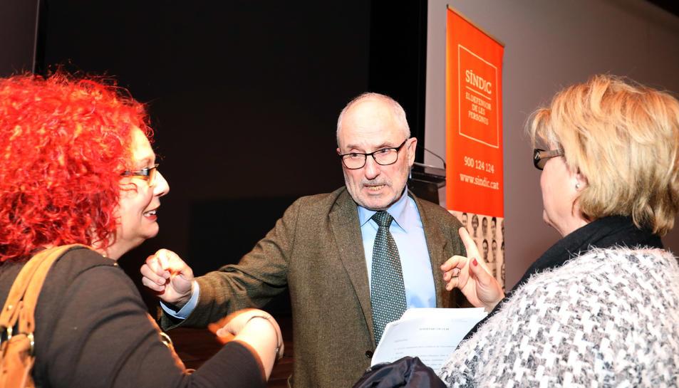 Ribó, ahir a Tarragona durant la presentació de l'informe anual de l'oficina del Síndic de Greuges.