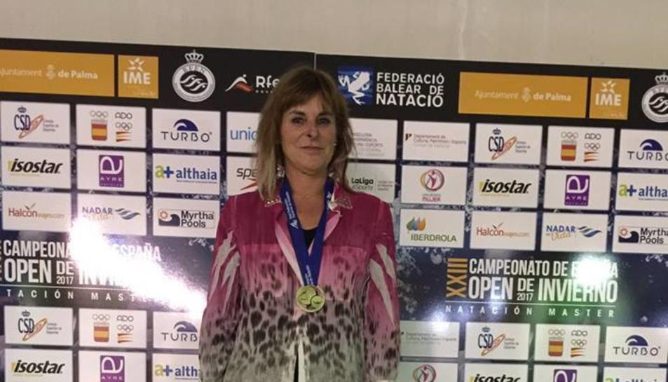 Sylvia Fontana s'emporta dues medalles en el Campionat d'Espanya Màster d'Hivern.
