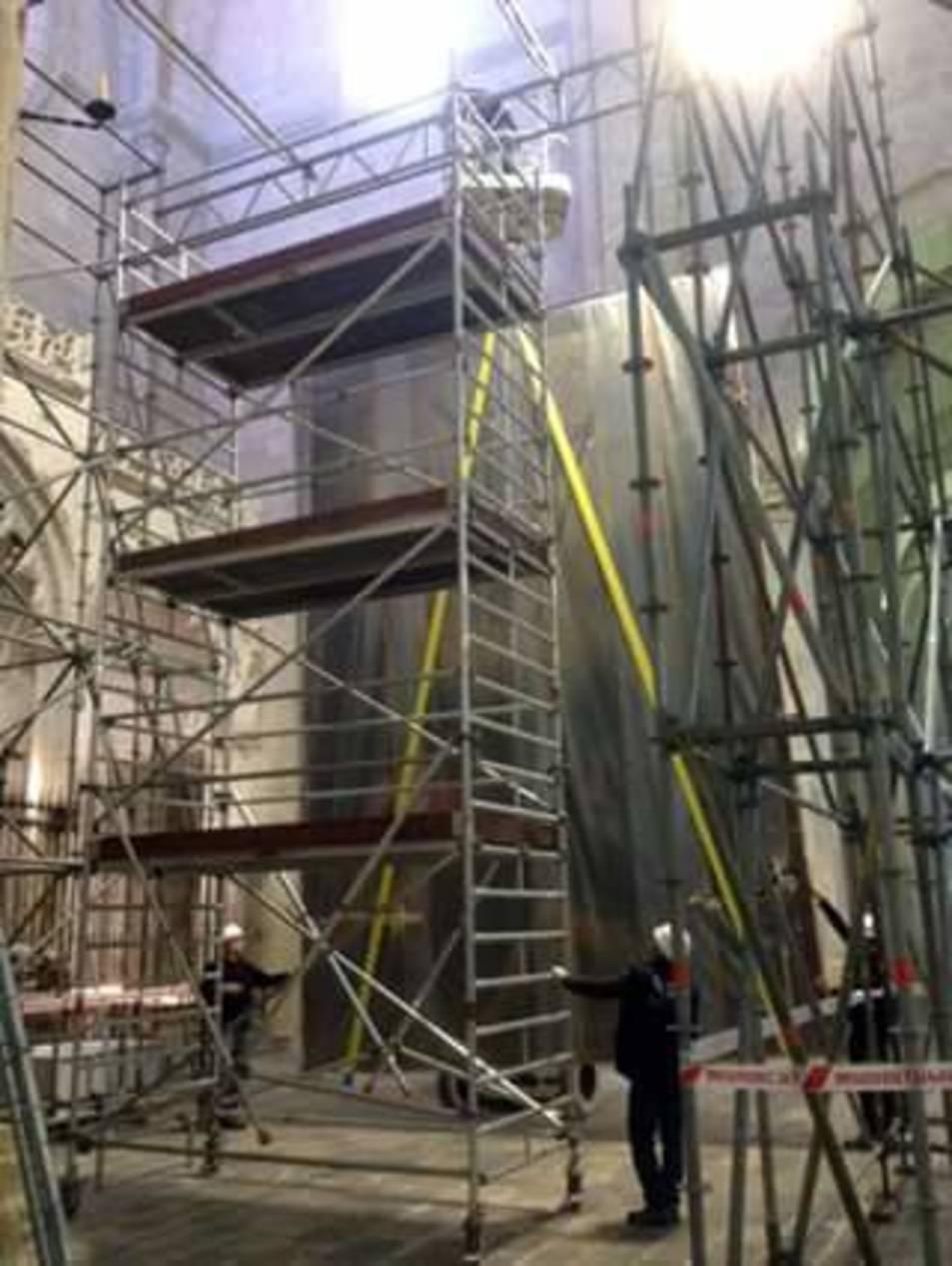 La Catedral està en obres.