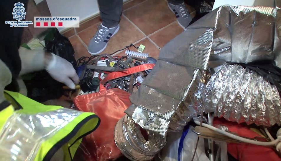 La organització criminal robava diners de caixers automàtics després de fer-los volar amb explosius.