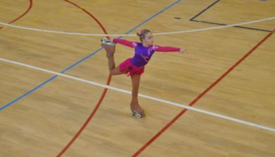 Una jove patinant.