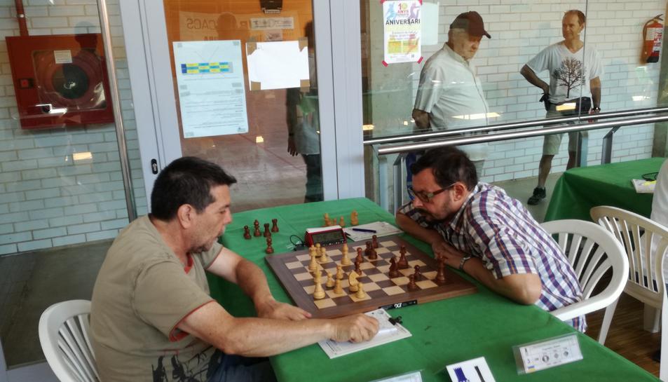Una imatge d'arxiu d'una partida d'escacs.