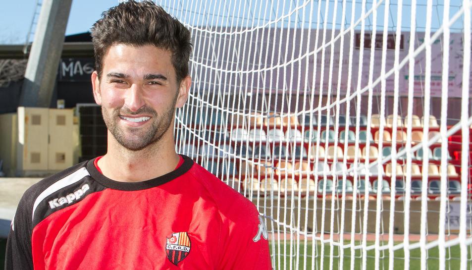 Tébar, després d'un dels seus primers entrenaments, ahir, a les instal·lacions de l'Estadi.