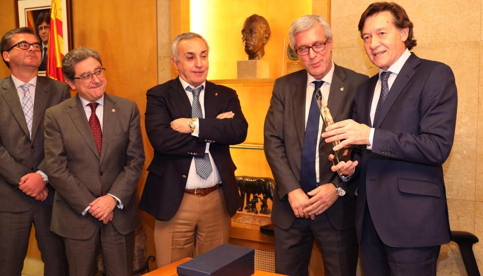 Lete, ahir, durant la visita a l'Ajuntament de Tarragona.