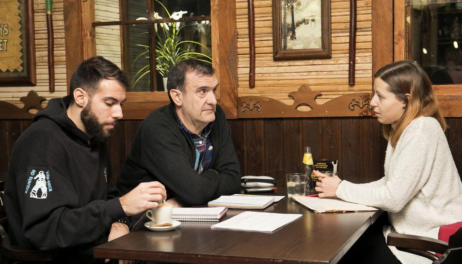 Marc Morales, Hèctor Soler i Eva Rofín volen que els Xiquets de Vila-seca creixin socialment i potenciar la presència al poble.