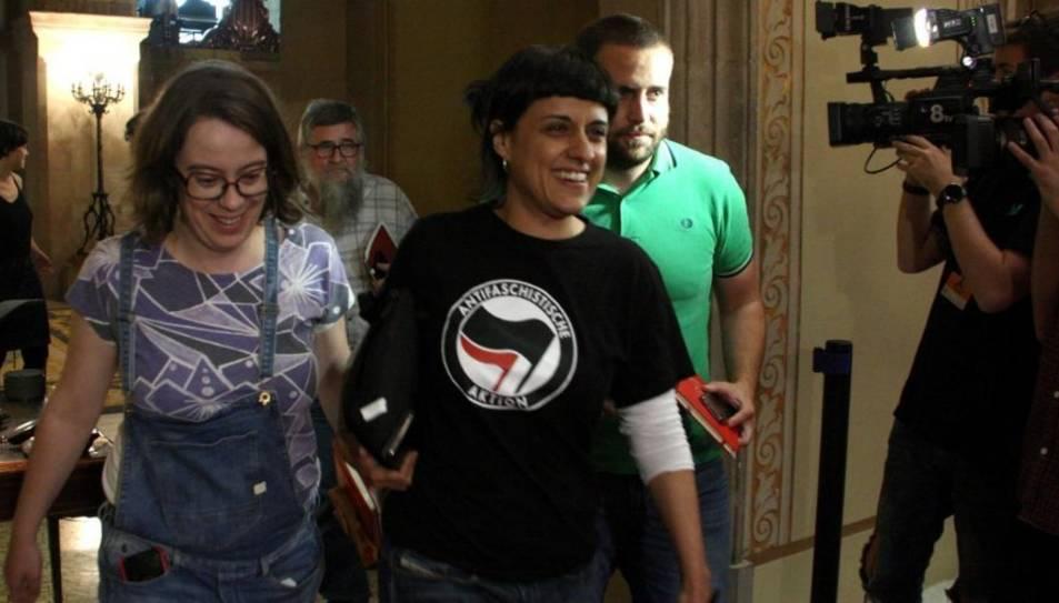 Anna Gabriel ha participat en l'assemblea a Reus.