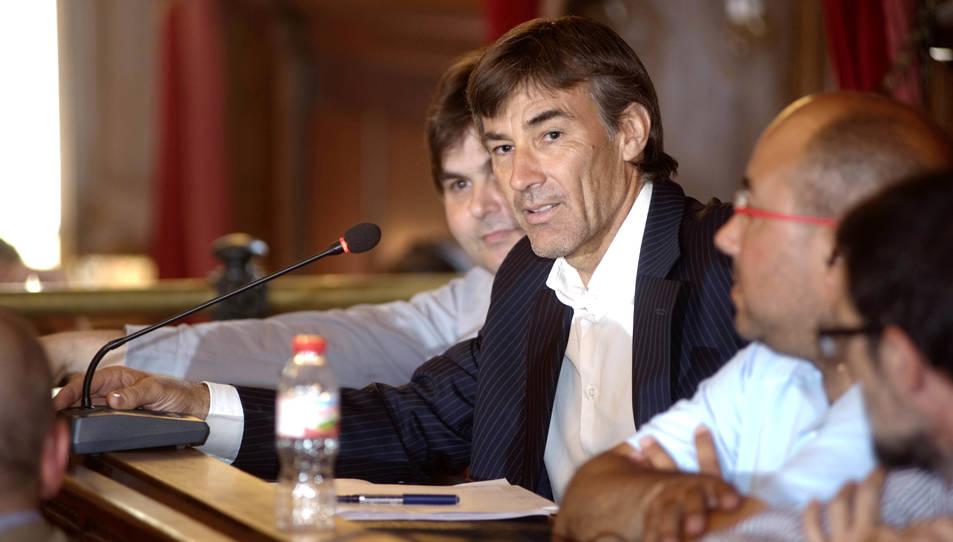 Imatge de Mariano Herráiz, durant una sessió plenària, l'any 2015.