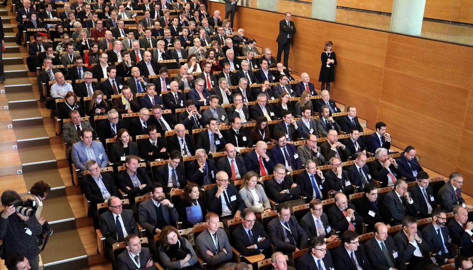 Aspecte que va oferir la Sala Eutyches del Palau de Congressos ahir al matí, amb més de tres-cents empresaris.