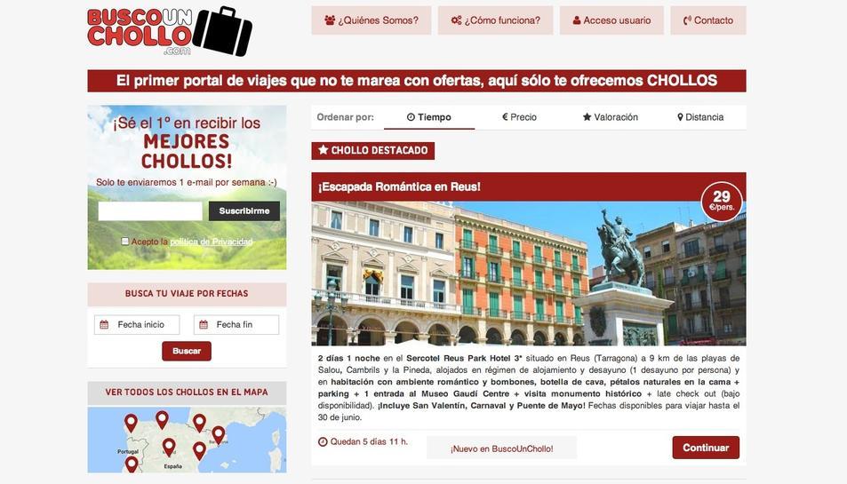 Fotografia de la pàgina web de Buscaunchollo