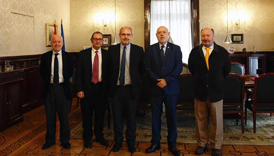 Membres de SCC amb el Fiscal General de l'Estat.