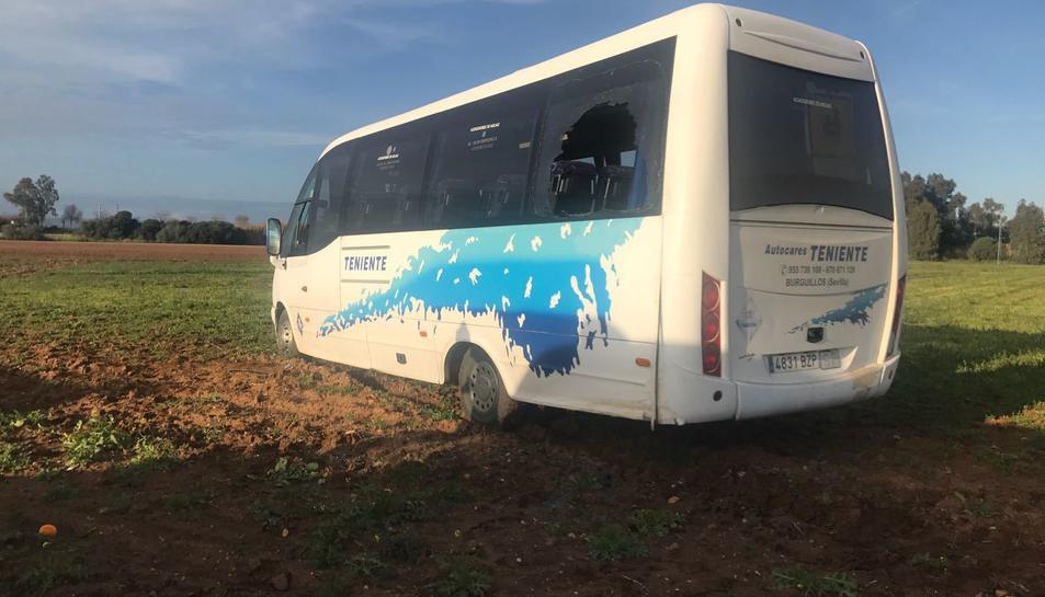 Imatge de l'autobús sinistrat.