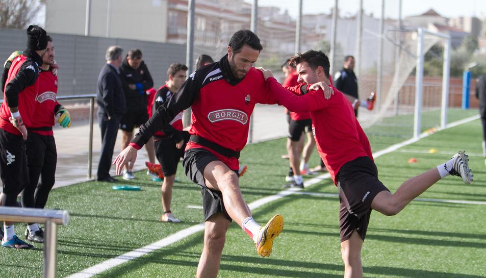 Rafa García, entrenant amb el CF Reus.