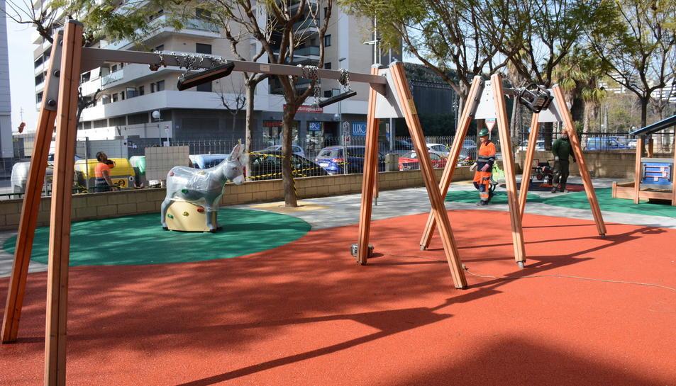 Fotografia del parc infantil de Vidal i Barraquer.