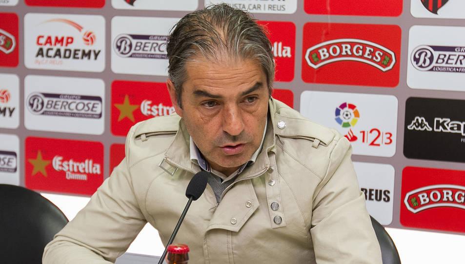 L'entrenador Natxo González, a la sala de premsa.