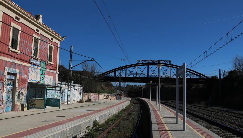 L'estació de tren de les Borges del Camp.