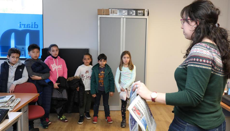 Fotografia de la visita guiada al diari