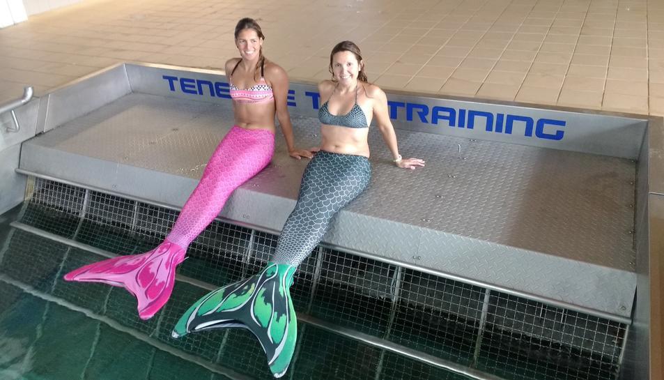 La directora de l'Acadèmia, Susana Seuma, junt a la nedadora paralímpica Michelle Alonso.