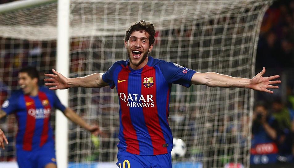 Sergi Roberto acaba de marcar un gol que li ha obert les portes de la història del barcelonisme.